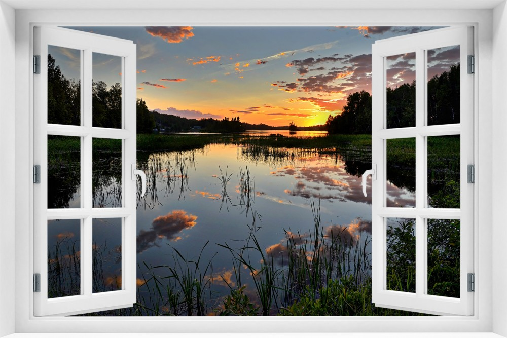 Zachód Słońca krzs10-okno