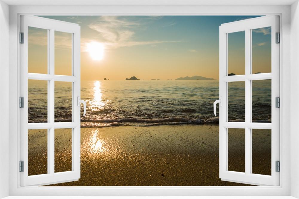 Zachód Słońca krzs11-okno