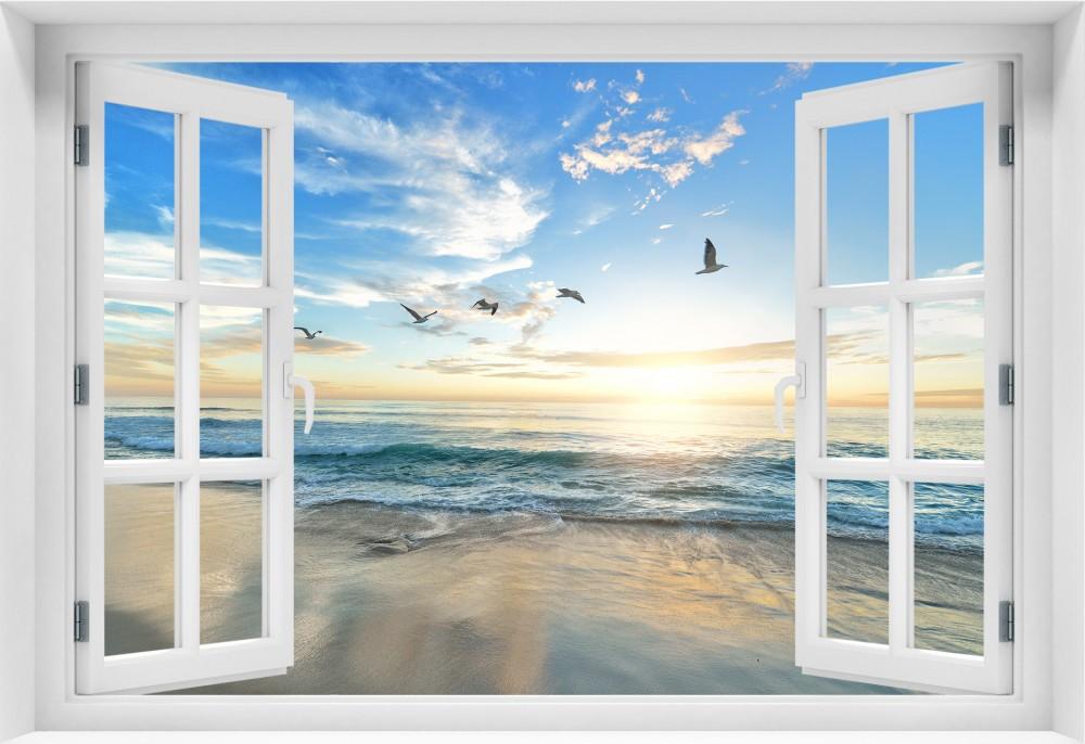 Plaża  Zachód Słońca krzs1-okno