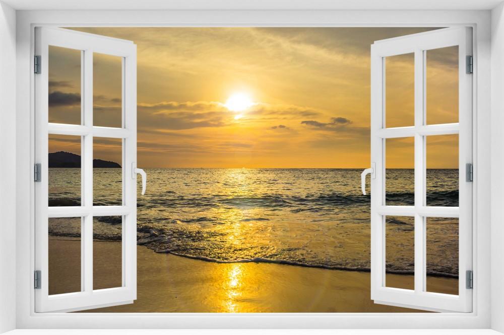 Zachód Słońca krzs5-okno