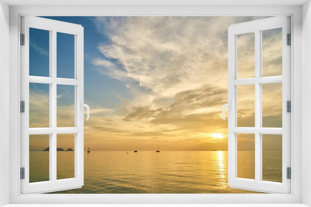 Zachód Słońca krzs8-okno