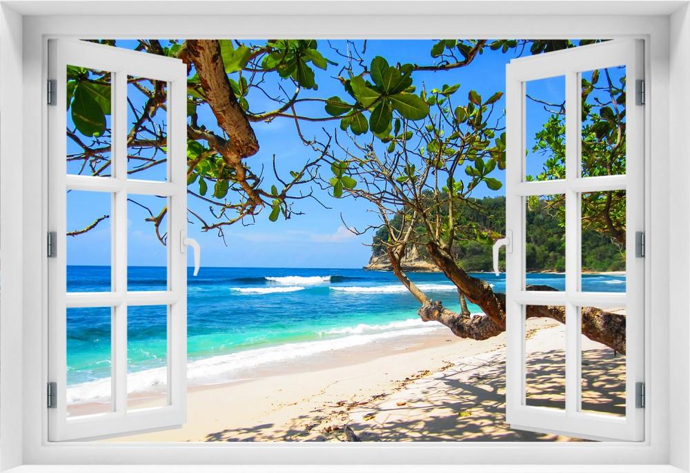Plaża  p003-okno