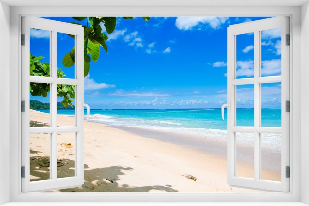 Plaża p009-okno